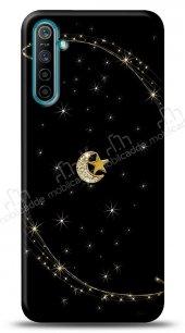 Realme 6 Ay Yıldız Gökyüzü Taşlı Kılıf