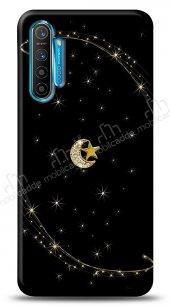 Realme 6 Pro Ay Yıldız Gökyüzü Taşlı Kılıf