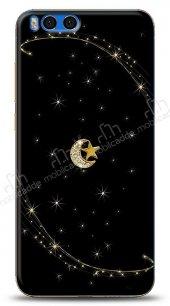 Xiaomi Mi Note 3 Ay Yıldız Gökyüzü Taşlı Kılıf