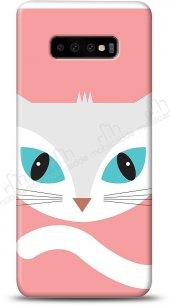 Samsung Galaxy S10 Plus Big Face Cat Kılıf