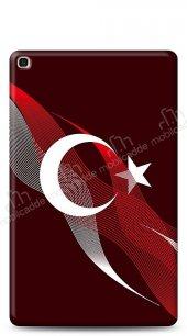 Samsung Galaxy Tab S5e SM-T720 Bayrak Çizgiler Kılıf