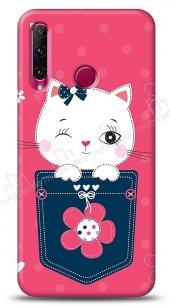 Honor 20 Lite Pink Cat Kılıf