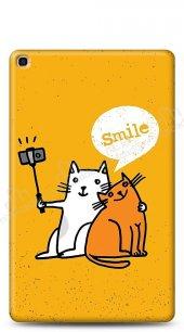 Samsung Galaxy Tab S5e SM-T720 Selfie Cat Kılıf