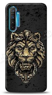 Realme C3 Gold Lion Kılıf