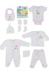 Aziz Bebe Kız Bebek 10Lu Zıbın Seti 0-3 Ay