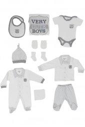 Aziz Bebe Erkek Bebek 10Lu Zıbın Seti 0-3 Ay