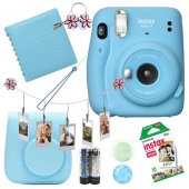 Fujifilm İnstax Mini 11 Fotoğraf Makinesi Set  Mavi