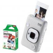 Fujifilm İnstax liplay Fotoğraf Makinesi (STONE WHITE) 10 LU