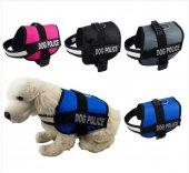 Hamaha Ksoto Dog Police Fosforlu Köpek Göğüs Tasması Küçük 60-75 cm Siyah