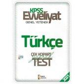 İsem Evveliyat KPSS Türkçe Çek Kopar Yaprak Test 2021