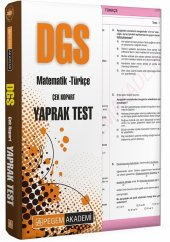 Pegem DGS Türkçe-Matematik Yaprak Test Çek Kopart 2021