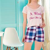Kare Şortlu Pijama Takımı (XL)