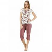 Bermuda Pijama Takımı Çiçek (L)