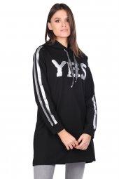 Dijital Bakılı Basic Kadın Sweatshirt
