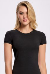 ILKE 2261 Likralı Yuvarlak Yaka Kadın T-shirt 3 Adet