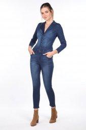 Jean Kadın Tulum Pantolon