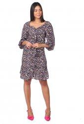 Markapia Çiçek Desenli Mini Elbise