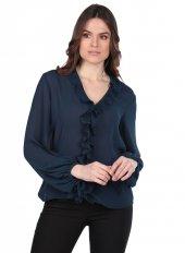 Markapia Fırfırlı Bluz