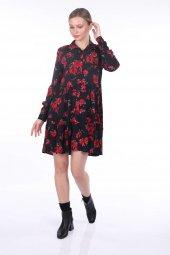 Markapia Kırmızı Çiçek Desenli Elbise