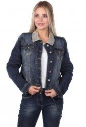 Bny Jeans Büyük Beden Kadın Jean Ceket