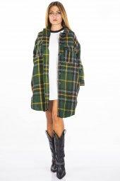 Yeşil Ekose Kadın Ceket