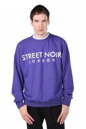 London Baskılı Erkek Sweatshirt