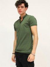 Polo Yaka Haki Erkek T-shirt