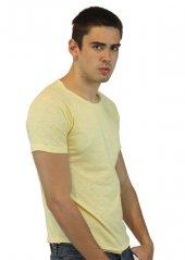 Bisiklet Yaka Sarı Erkek T-shirt