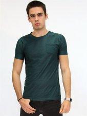 Bisiklet Yaka Nefti Jakarlı  Erkek T-shirt