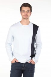Markapia Siyah Şeritli Sweatshirt
