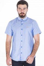 Blue White Kısa Kollu Gömlek