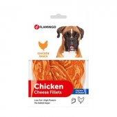 Flamingo Chicken Cheese Fillets Tavuk Ve Peynirli Fileto Köpek Ödülü 85 gr