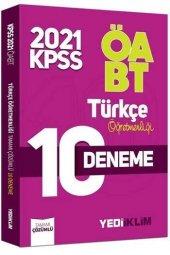 2021 ÖABT Türkçe Öğretmenliği Tamamı Çözümlü 10 Deneme Yediiklim Yayınları