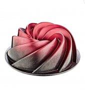 Granit kek kalıbı Rürgar gülü siyah-kırmızı 26cm