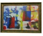 2000 Parça Puzzle Çerçevesi -Yeşil - 68*96 - 55 mm