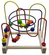 True Toys Küçük Ahşap Helezon TR-9090 Labirent Koordinasyon Eğitici Oyuncak