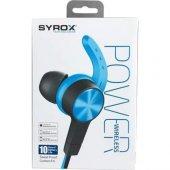 Syrox S32 Bluetooth Mıknatıslı Kulakiçi Spor Kulaklık - Mavi