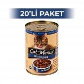 Cat Menue Ciğerli Kedi Konserve Maması 415 gr (20 adet)