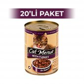 Cat Menue Hindi Etli Kedi Konserve Maması 415 gr (20 adet)