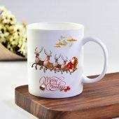 eKUPAM Noel Baba Ve Geyikler Kupa Bardak - 0216