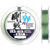 Gosen W4 İp Misina 300m Yeşil PE 1.0 0.17mm 12lb/5.6kg
