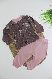 Rapapa Kız Çocuk Çıtçıtlı Pijama Takımı 272-