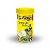 Artakua Spirulina Garlic 100 ML Sarımsaklı Balık Yemi 1,7 MM