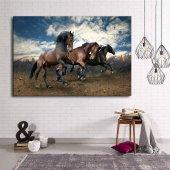 Koşan Atlar Kanvas Tablo