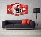 Atatürk Temalı 5 Parçalı Mdf Tablo