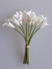adresiYapayÇiçek  Yapay Çiçek Islak Gala Çiçeği 8 Dal Beyaz
