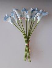 adresiYapayÇiçek  Yapay Çiçek Islak Gala Çiçeği 8 Dal Açık Mavi