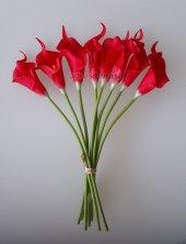 adresiYapayÇiçek  Yapay Çiçek Islak Gala Çiçeği 8 Dal Kırmızı