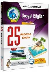 6.Sınıf Sosyal Bilgiler 25 Deneme Sınavı Çanta Yayınları