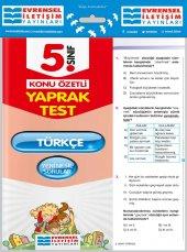 5. Sınıf Türkçe Konu Özetli Yaprak Test Evrensel İletişim Yayınları